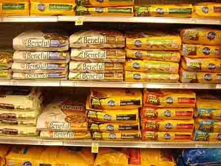 dog food in supermarket