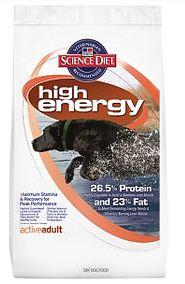 high energy dog food